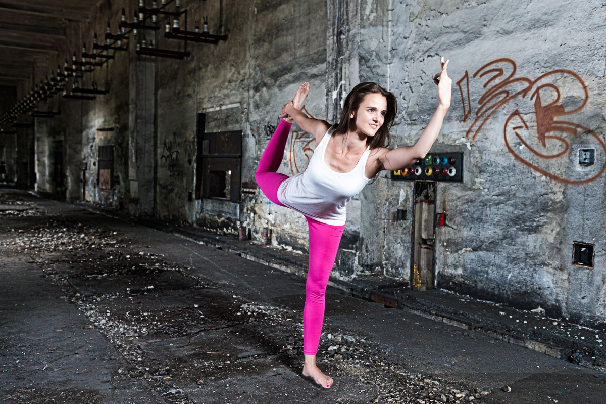Trainingsziel-Eva Anker beim Yoga